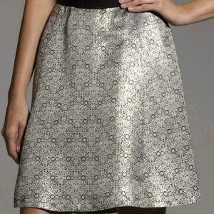Metallic Brocade A-Line Skirt
